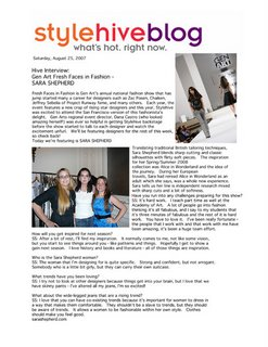 Fashion School News Alumni Spotlight: Graduate in Gen Art Fresh Faces Show