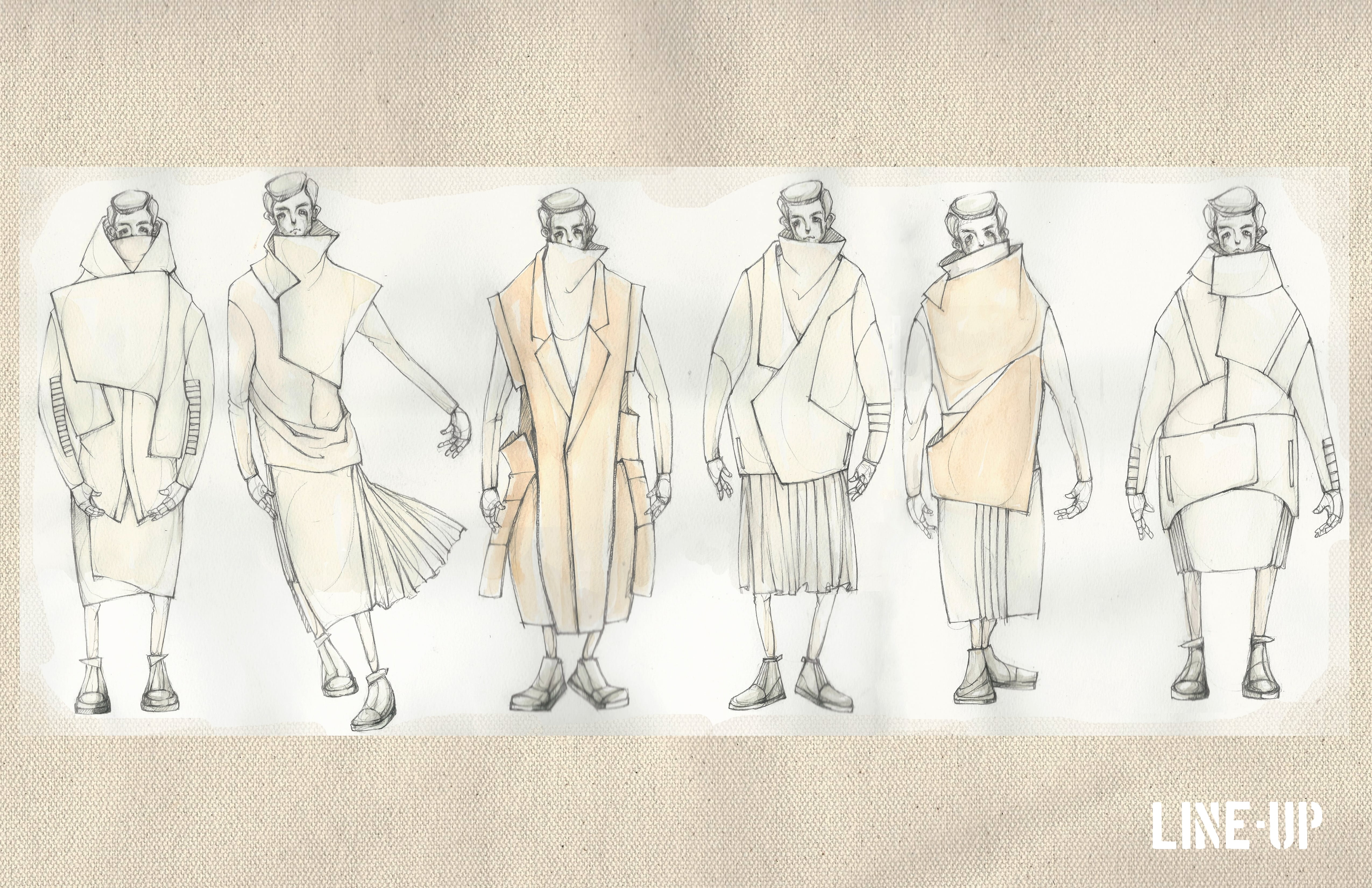 Illustrated line up by Ruone Yan