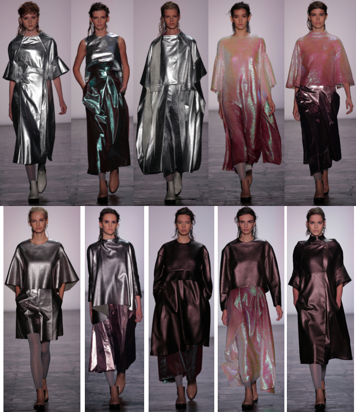 Spring 2016 collection by Max Lu, M.F.A. Fashion Design, and Jingci Jessie Wang, M.F.A. Fashion Design