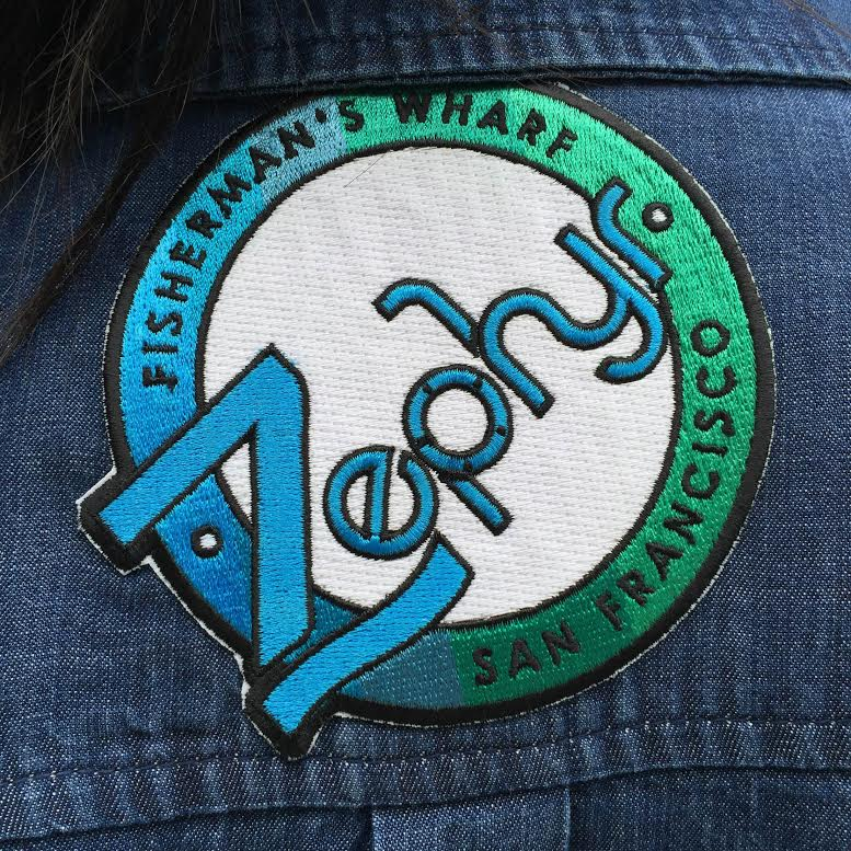 Custom logo and patch for Hotel Zephyr, part of Fleis' collection. Photo courtesy: Melissa Fleis