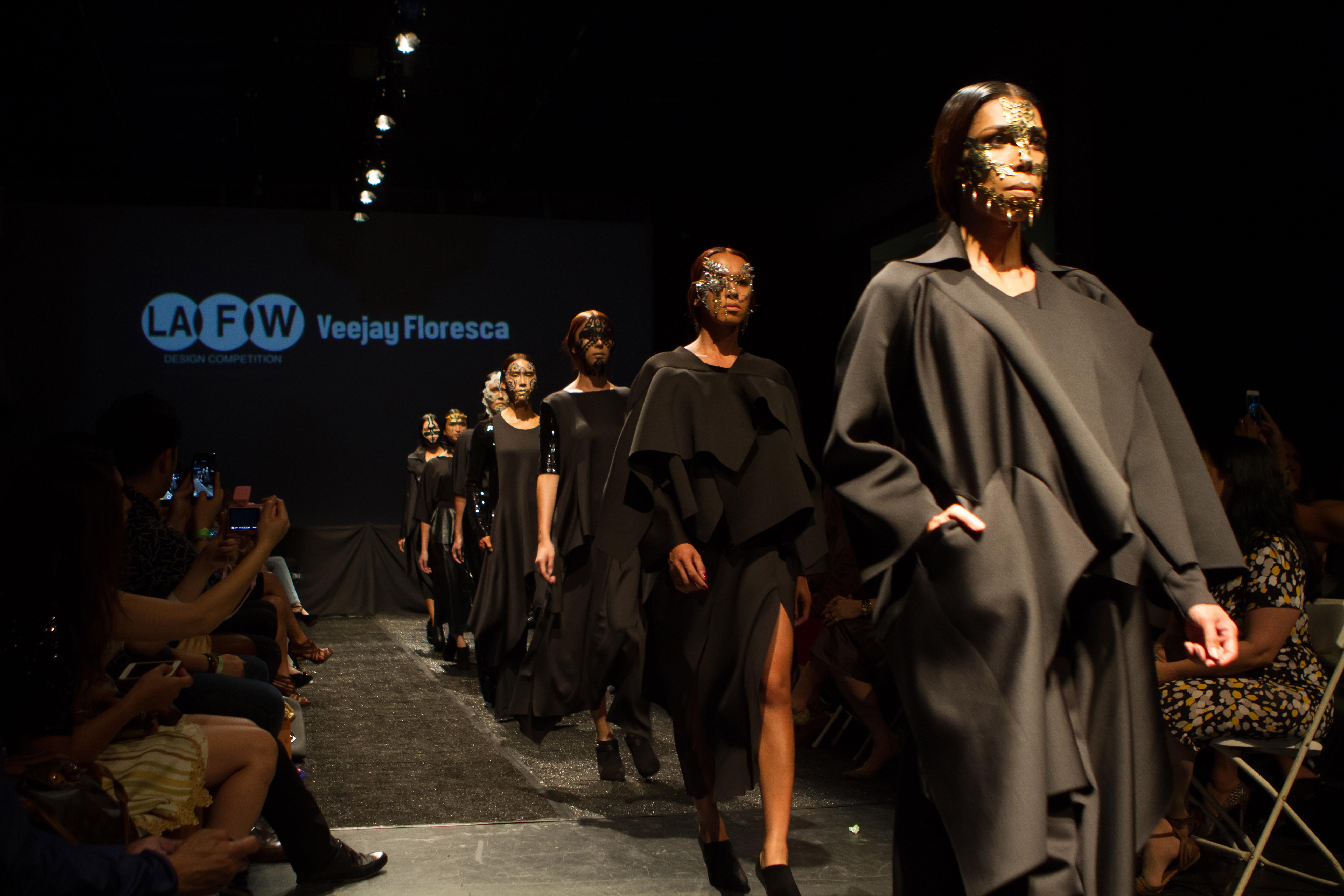Veejay Floresca's designs at LA Fashion Design Competition 2014. Photo courtesy of Dave Lohr