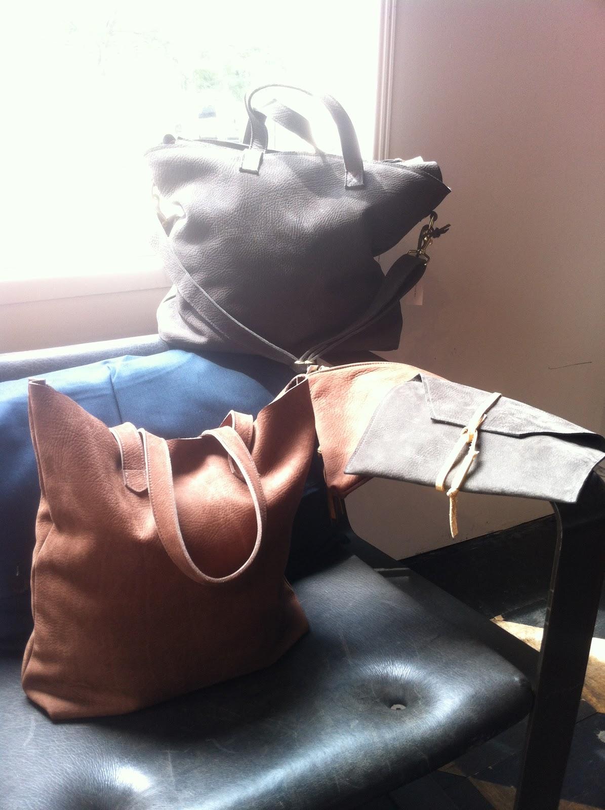 Shannon South bags. Photo via Rogan