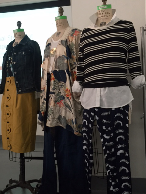 Fong came prepared with examples to highlight personal styling techniques and the different styles that Anthropologie caters to.