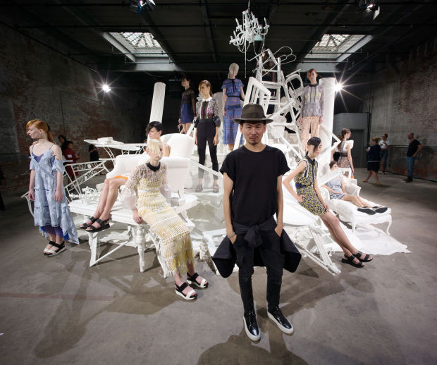 Designer Han Chong at the Self-Portrait SS16 presentation during NYFW. Photo courtesy of Grant Lamos IV/Getty Images