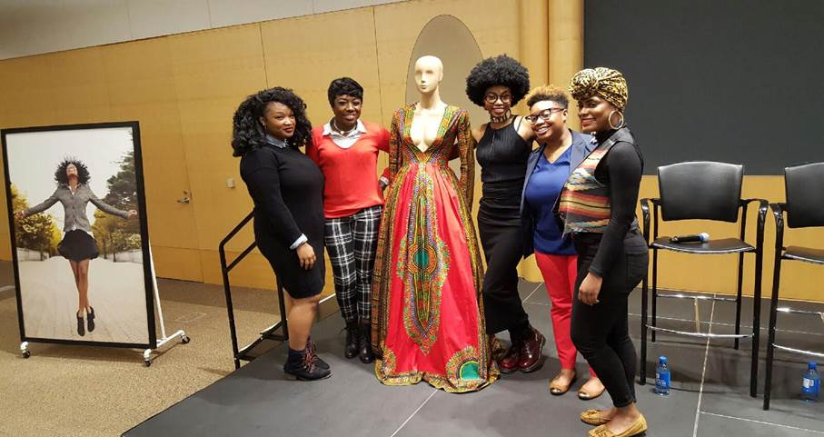 Academy of Art University  students pose with Kyemah McEntyre after the event.