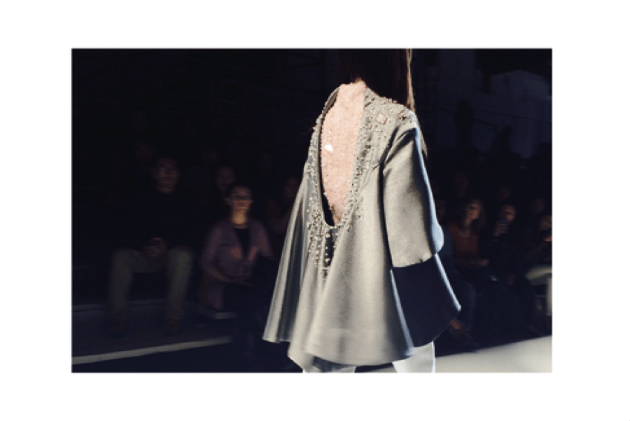 A snapshot from her 2014 graduation collection shows the beading detail on the garments. Check out more of the details here: http://www.aile-hua.com/details/