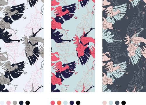 One of the many intricate and beautiful textiles designed by Hua. Check out more of her designs here: http://www.aile-hua.com/textile/