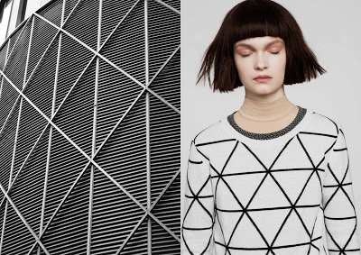 London clothing brand Chinti and Parker teamed up with the pattern visionaries at Patternity to bring to life the merging of fashion and architecture, through the line inspired by patterns found in certain buildings. Image courtesy: http://designbuildla.blogspot.com/