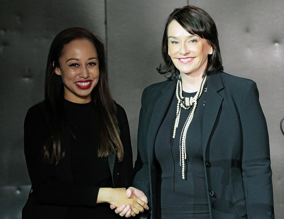 Amanda Nyamach and Elisa Stephens