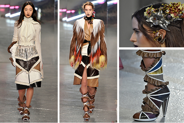 Looks and details from Rodarte's 2016 runway show. Image courtesy editorialist.com