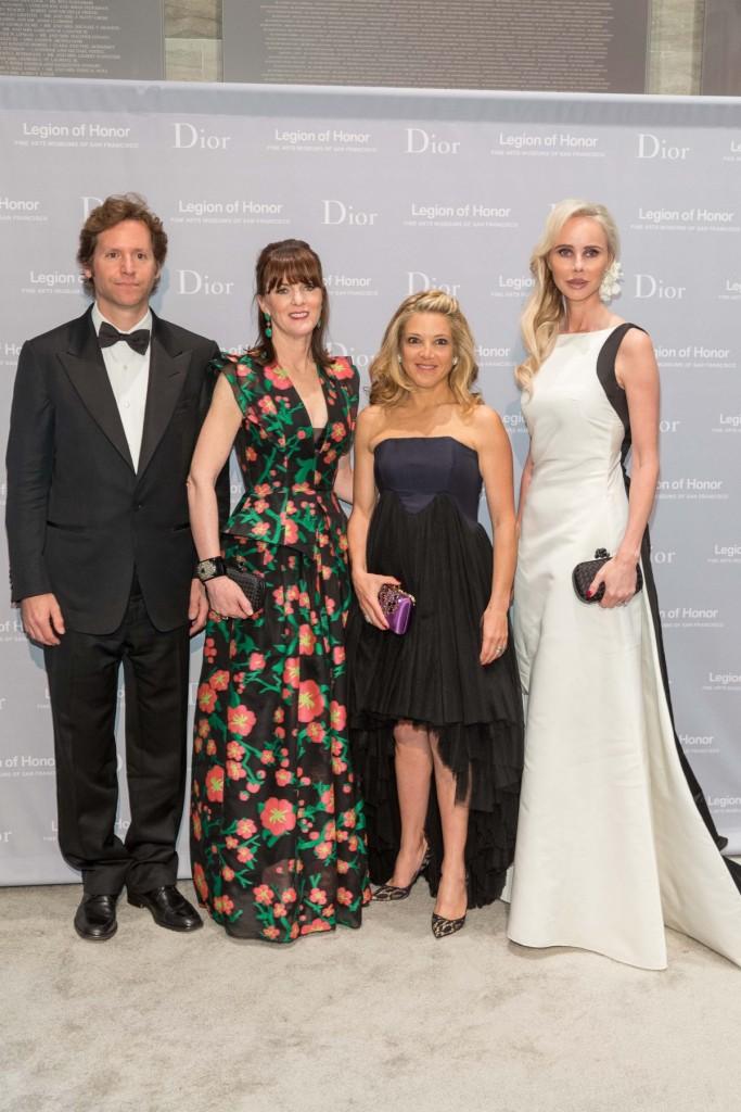 Trevor Traina, Allison Speer, Kate Lasater, Vanessa Getty at 2015 Mid-Winter Gala presented by Dior