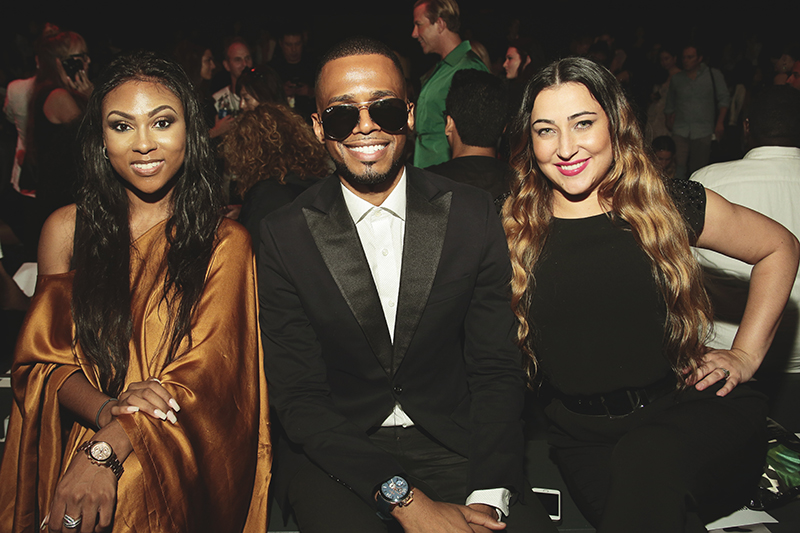 Featured in the middle is Academy of Art University's annual show attendee Donald Aversa with friends. Photo by: Getty Images