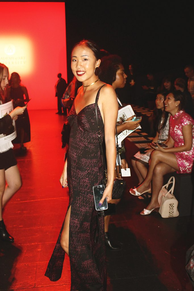First time attendee the fashion show is Fashion Merchandising Student, Avie Lou. Image Source: Faye Harris