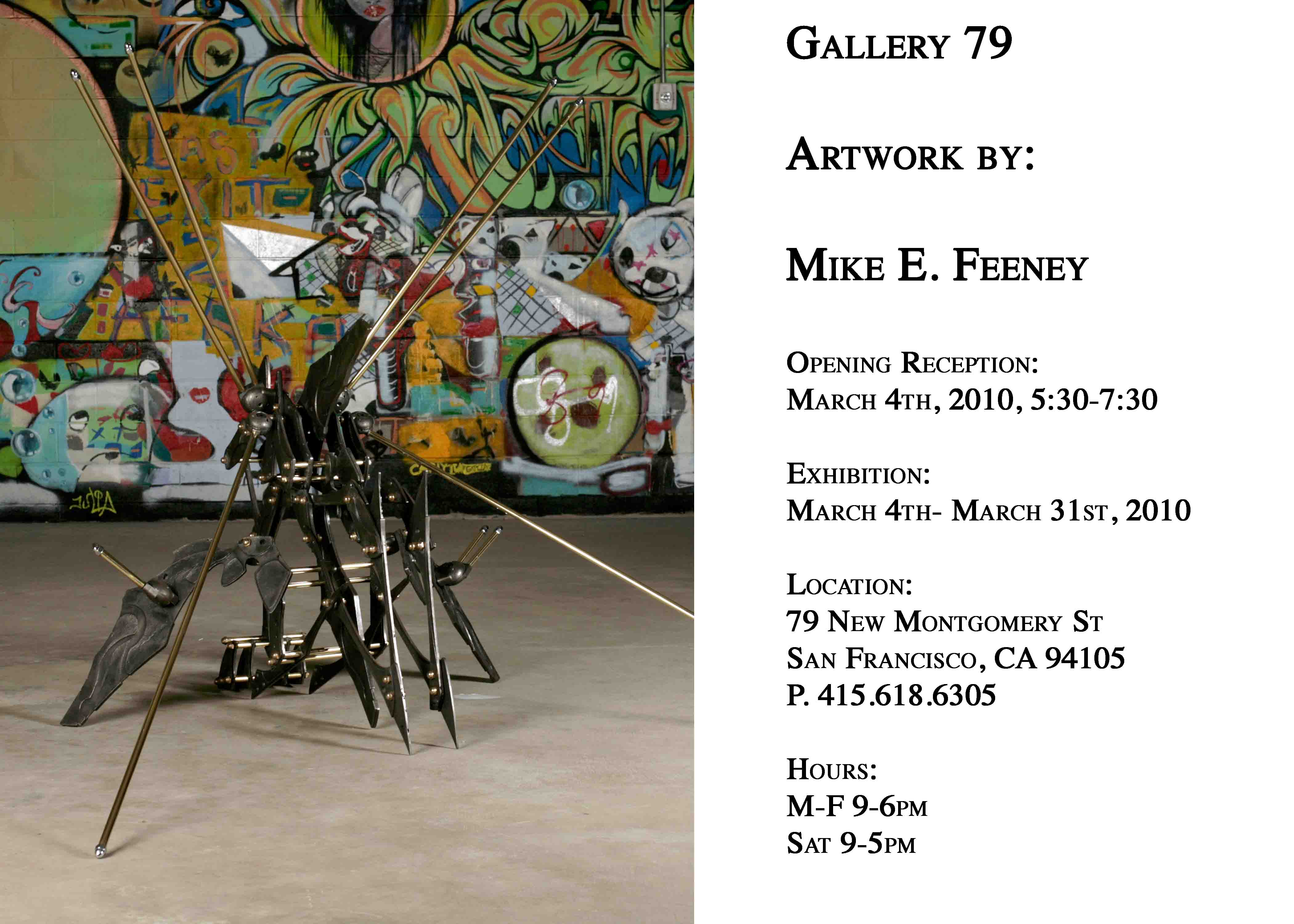 Mike Feeney gives us a show at the 79 Gallery