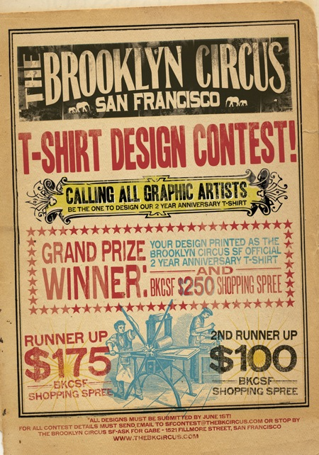 The Brooklyn Circus T Shirt Design Contest: Are you up for the challenge?