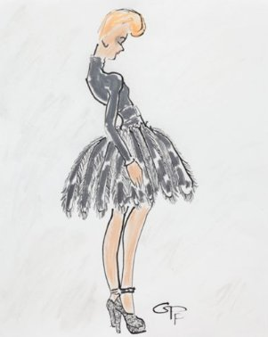 GPP Showcases her Work at London's Fashion Illustration Gallery