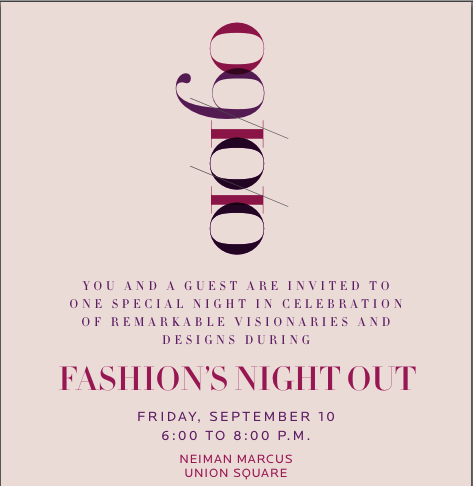 School of Fashion Celebrates Fashion's Night Out with Neiman Marcus