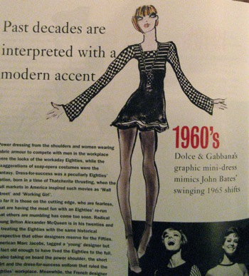 Domenico Dolce and Stefano Gabbana to the 1960s