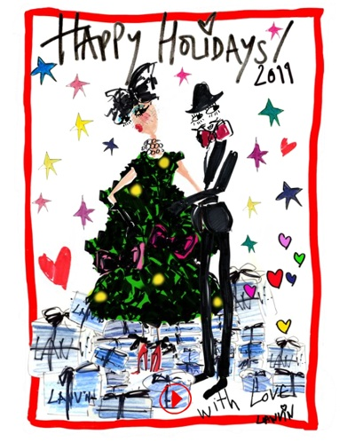 Lanvin Puts Their Stamp on the Holiday Season