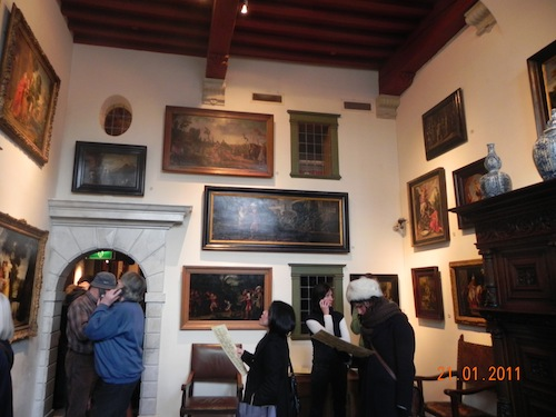 In Rembrandt's house – so much for hanging paintings at eye level – unless you are very tall, but…