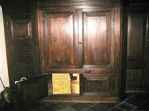 ...a bit claustrophobic (bed inside cupboard!)