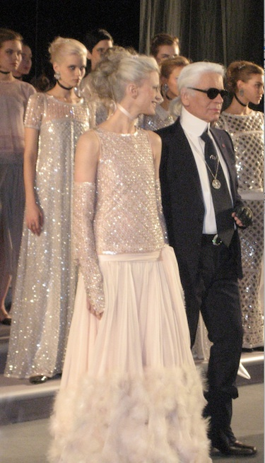 Karl Lagerfeld and the bride Kirsten McMenamy