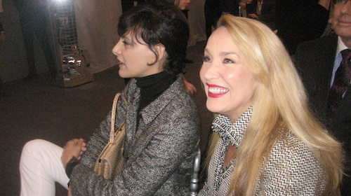 Ines de la Fressange and Jerry Hall