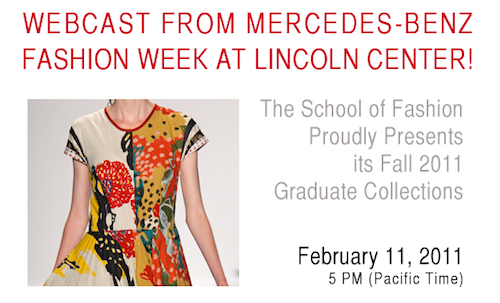 Watch the Live Webcast of our Show at Mercedes-Benz Fashion Week at Lincoln Center
