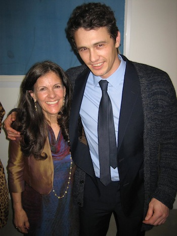 "Betsy Franco with James Franco at the premiere of Gus Van Sant's ""Unfinished"" premiere at the Gagosian Gallery"
