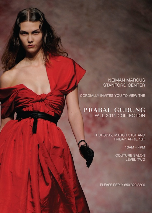 Prabal Gurung's Fall 2011 Collection Comes to the Bay Area