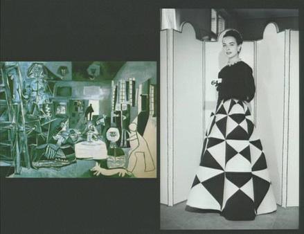 Balenciaga's design compared to Spanish works of art