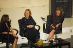 Nathalie Rykiel (from left), Gladys Perint Palmer and Cathy Horyn at last week's symposium. All photos by Randy Brooke