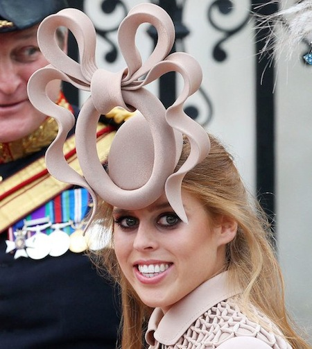 Princess Beatrice, a big mistake in Philip Treacy.