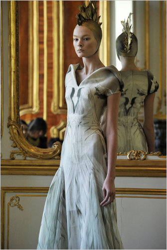 A look from McQueen's Fall 2010 collection. Photo credit: Chris Moore/Karl Prouse
