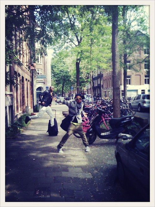 Ashon and Ronnie in Amsterdam