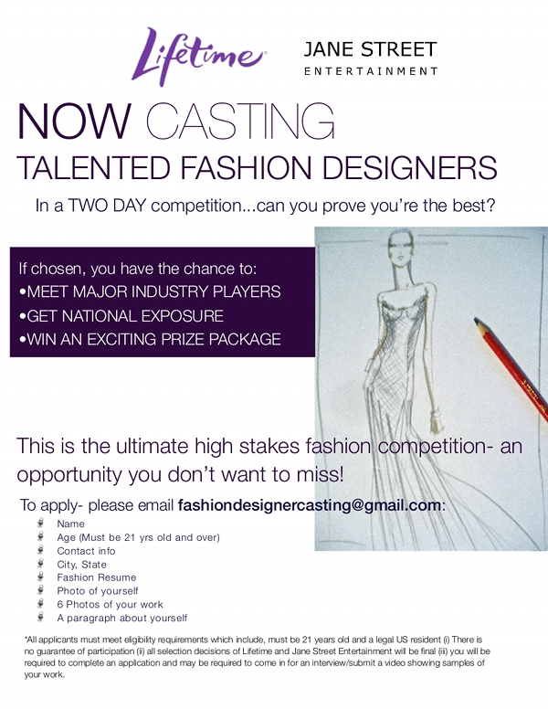 Casting Call For Fashion Designers Fashion School Daily