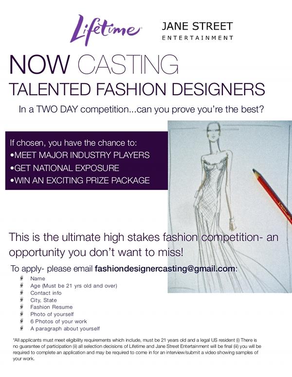 Casting Call For Fashion Designers!