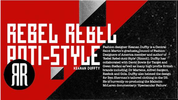 Follow Keanan Duffty's 'Rebel Style'
