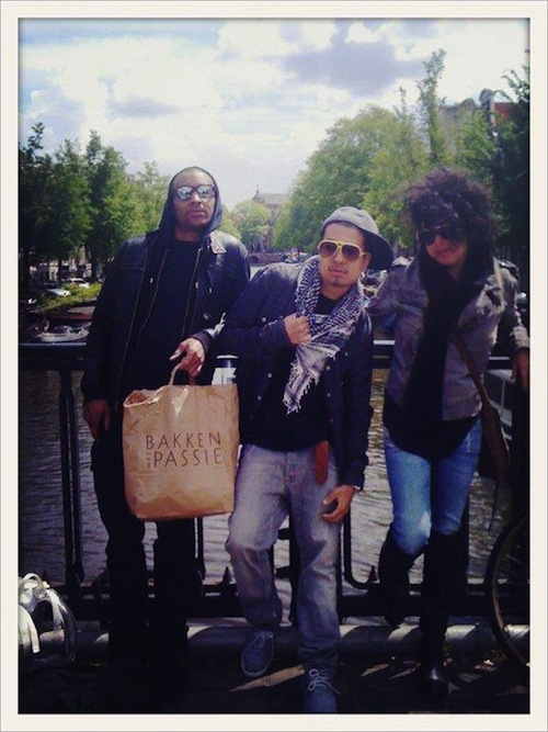 Ashon, Ronnie and Rinat in Amsterdam