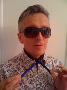 Simon Doonan dons his signature neckerchief. Photo credit: Slate.com