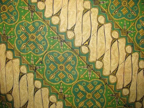 Picture with batik motifs