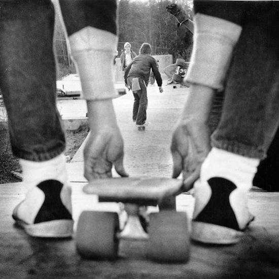 Kids skateboard down a makeshift ramp. Photo taken Dec. 1, 1976. (Gary Fong/Chronicle 1976)