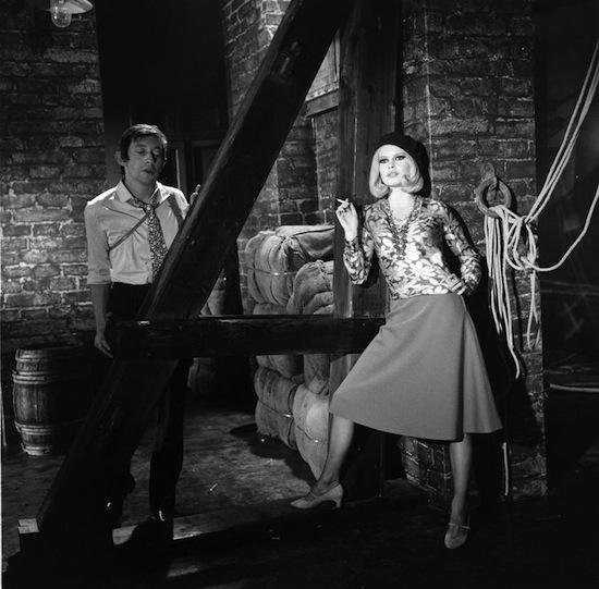 "Serge Gainsbourg & Brigitte Bardot in the ""Bonnie & Clyde"" music video"