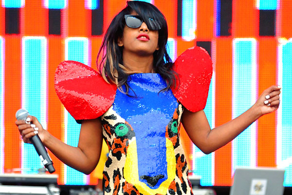 Electronica/alternative/hip-hop/dance music artist M.I.A. performs at Outside Lands in 2009.