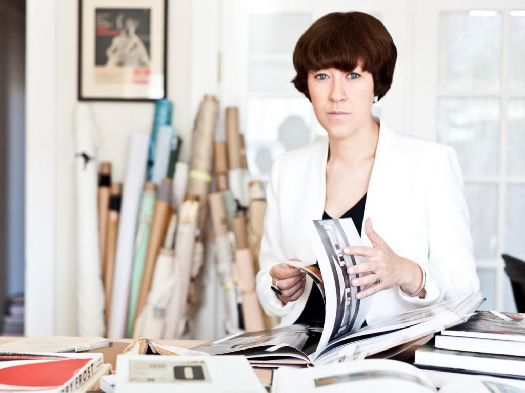 Louisa Parris in her Studio