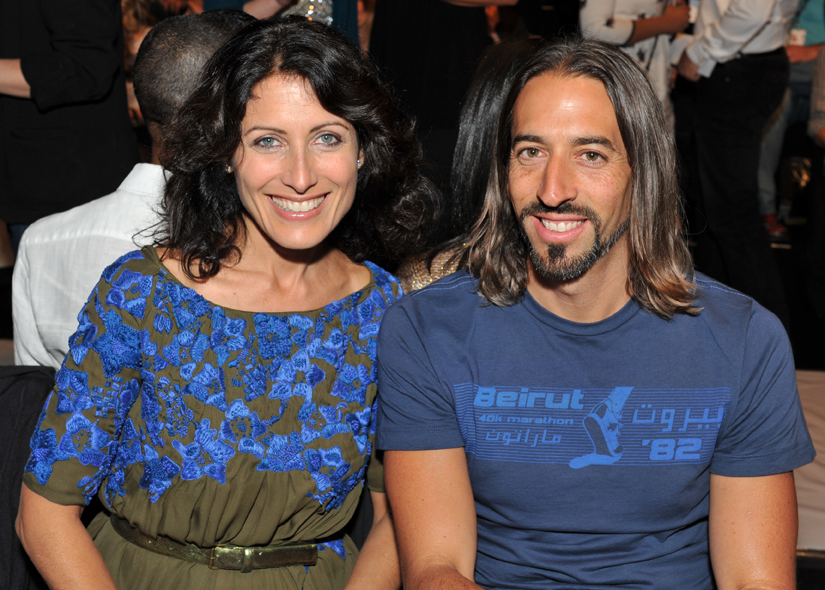 Lisa Edelstein, actress from House, and Robert Russell