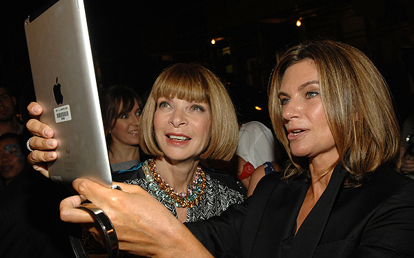 Anna Wintour would be all about the Ebrary - who needs books when you have an iPad?