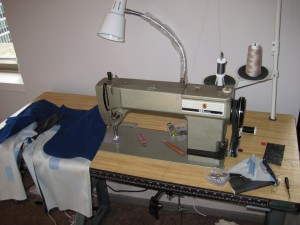 Makeshift Sewing Space