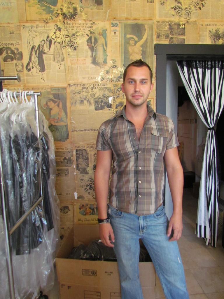 The designer in his San Francsico boutique
