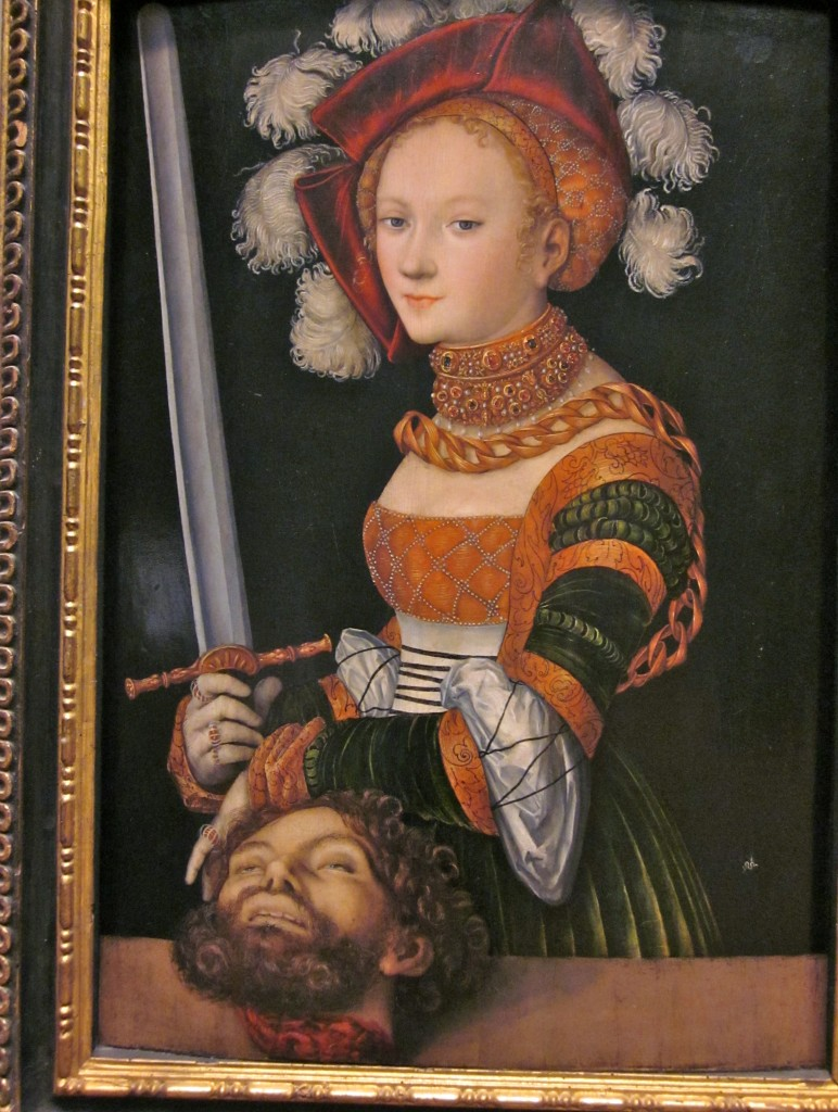 Lucas Cranach the Elder (1472 - 1616) Judith with the head of Holofernes.